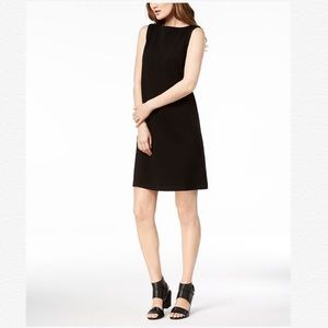 EILEEN FISHER Tencel Ponte Bateau Neck Shift Dress